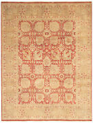 Vintage Hand-knotted Carpet 10and0392 X 7and03910 Traditional Cream Wool Area Rug