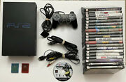 Sony Playstation 2 Bundle Fat Console 21 Games Controller 2 Memory Cards Tested