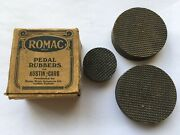 Scarce C1920s-30s Vintage Unused Romac Pedal Rubbers For Austin Cars In Orig Box