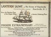 Lantern Light In The Town Of Smithville New Jersey Menu 1986