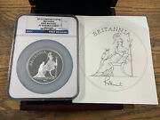 Great Britain 2013 Britannia 10 Pounds 5 Oz Silver First Releases Ngc Pf70 Ultra