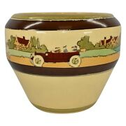 Roseville Pottery Tourist 1916 Arts And Crafts Jardiniere Planter 569-9