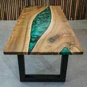 5and039x2.5and039 Epoxy Resin Center Coffee Resin Wooden Table Top Home Furniture K11