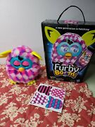 Furby Boom White Purple Pink Plush Toy Hasbro W/box 2013 Tested And Working