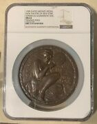 Usa New Theatre Of New York Bronze Medal 1909 Ngc - 106 Mm