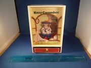 Ultra Rare Schmid Kitty Cucumber Dancing And Moving Orgel Cat Music Box