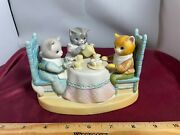 Vintage Schmid Kitty Cucumber Tea Time Tune-tea For Two 1985 Music Box