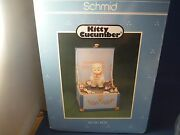 Rare Vintage New Schmid Kitty Cucumber Moving Buster Toy Chest Music Box Nib