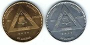 Vintage South Central Bell System Telephone Satellite Space Coins Tokens Medals