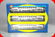 Ho Scale Bombardier Metrolink 3-car Coach And Control Passenger Set - Athearn 2580