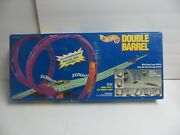 New In Box Hot Wheels Double Barrel Race Set With 2 Cars - Vintage 1993 - Rare