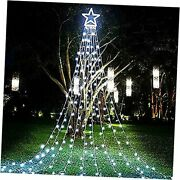 Christmas Decorations Outdoor Star Lights 16.4ft Christmas Tree Toppers White