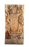 Antique Handcrafted Indian Teak Wooden Lord Shrinathji Statue Home/office Decor