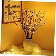 3pk 30 Lighted Twig Branches Pathway Light 60 Led Warm White Bulbs For Brown