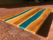 4'x2' Epoxy Resin Coffee Table Top Handmade Home Furniture Decor Wooden K28