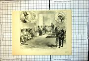 Old Print Grand Palaver Sierra Leone Between Governor Native Chiefs 1877 19th