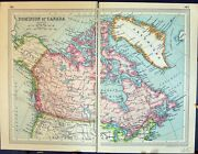 Antique Old Print 1931 Dent Map Dominion Canada Greenland Hudson Bay Quebec