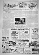 Original Old Antique Print 1908 Northern Railway Toy Trains Motor Cars Layettes