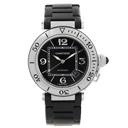 Pasha Seatimer Stainless Steel Black Dial Rubber Mens Watch W31077u2