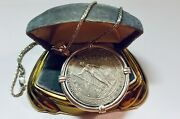 1911 Great Britain Silver One Dollar Trade Coin Pendant Heavy Piece With Chain
