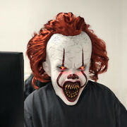 Halloween Mask Latex Cosplay Scary Costume Stephen Kingand039s It Clown Pennywise