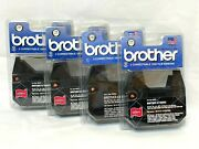 Genuine Oem Lot Of 4 Brother Black Correctable 1030 Film Ribbons For Typewriter