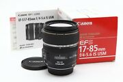 Near Mint Canon Ef-s 17-85mm F4.0-5.6 Is Usm Lens With Manual And Box 35479