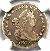 1803 Draped Bust Half Dime H10c - Certified Ngc Vf Details - Rare Date Coin