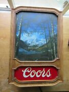 Vintage 1981 Coors Beer Lighted Sign Rocky Mountains Scene Colorado Quality Rare