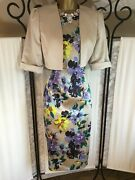 Gorgeous Coast Mother Of The Bride/groom Dress Size 14 And Jacket Size 12