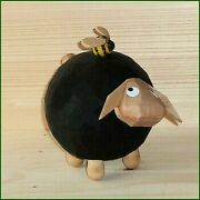 Wood Figure Christmas Sheep Gustav With Hummel, Large Height Approx 5 5/16in