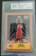 2003 Topps Bazooka Lebron James 223 Rookie Rc Mnt Graded 8.5 Red Jersey