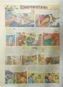 Superman Sunday Page 615 By Wayne Boring From 8/12/1951 Size 11 X 15 Inches