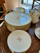 Vintage Lenox China Wheat R-442 12 Complete Place Settings + Extras 76 Items