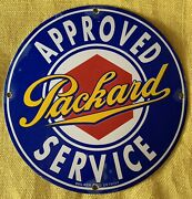Vintage Style Packard Service Advertising Porcelain Signs 12 Inch Round
