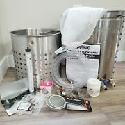 Bayou Classic 44 Qt Stainless Steel Stock Pot Brew Kettle Set Kit W/ Accessories