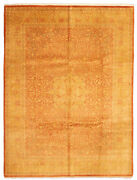 Vintage Hand-knotted Carpet 9and0392 X 12and0390 Traditional Copper Wool Area Rug