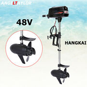 Hangkai 48v Outboard Motor Electric Brushless Fishing Boat Engine 1800w 35a New
