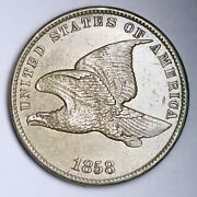 1858 Sl Flying Eagle Small Cent Penny Choice Unc Uncirculated Ms E106 Jeqw