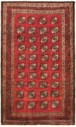 Vintage Hand-knotted Carpet 5'10 X 10'0 Traditional Dark Copper Wool Area Rug