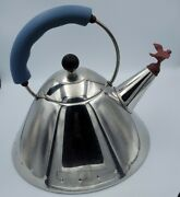 Alessi Michael Graves Teapot Kettle Induction Stainless Steel Made In Italy