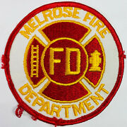 Melrose Fire Department Middlesex County Massachusetts Ma Patch K1
