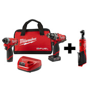 Power Tools Impact Driver Combo M12 Fuel 12-volt Brushless Cordless Hammer Drill