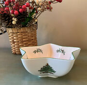 Spode Christmas Tree Star Dip Bowl 7andrdquo Serving Dish Candy Decor Excellent Cond.
