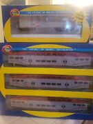 Athearn 2588 Ho Caltrain Bombardier And Locomotive Car Set 923 114221 And 224