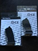 Two 2 Cz Magazines 22lr_10rd_poly_for Cz 457/455/512_black_new In Box_original