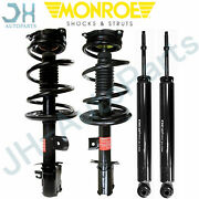 Front And Rear Kit For Nissan Murano 2009 2010 Monroe Struts And Shock Absorber