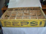 Vintage Pepsi-cola 24 Bottle Wooden Crate With Removeable Divider Sections Old