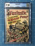 Fantastic Four 28 Silver Age Early X-men Cgc 7.0