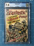 Fantastic Four 28 Cgc 7.5 Early X-men Appearance Silver Age